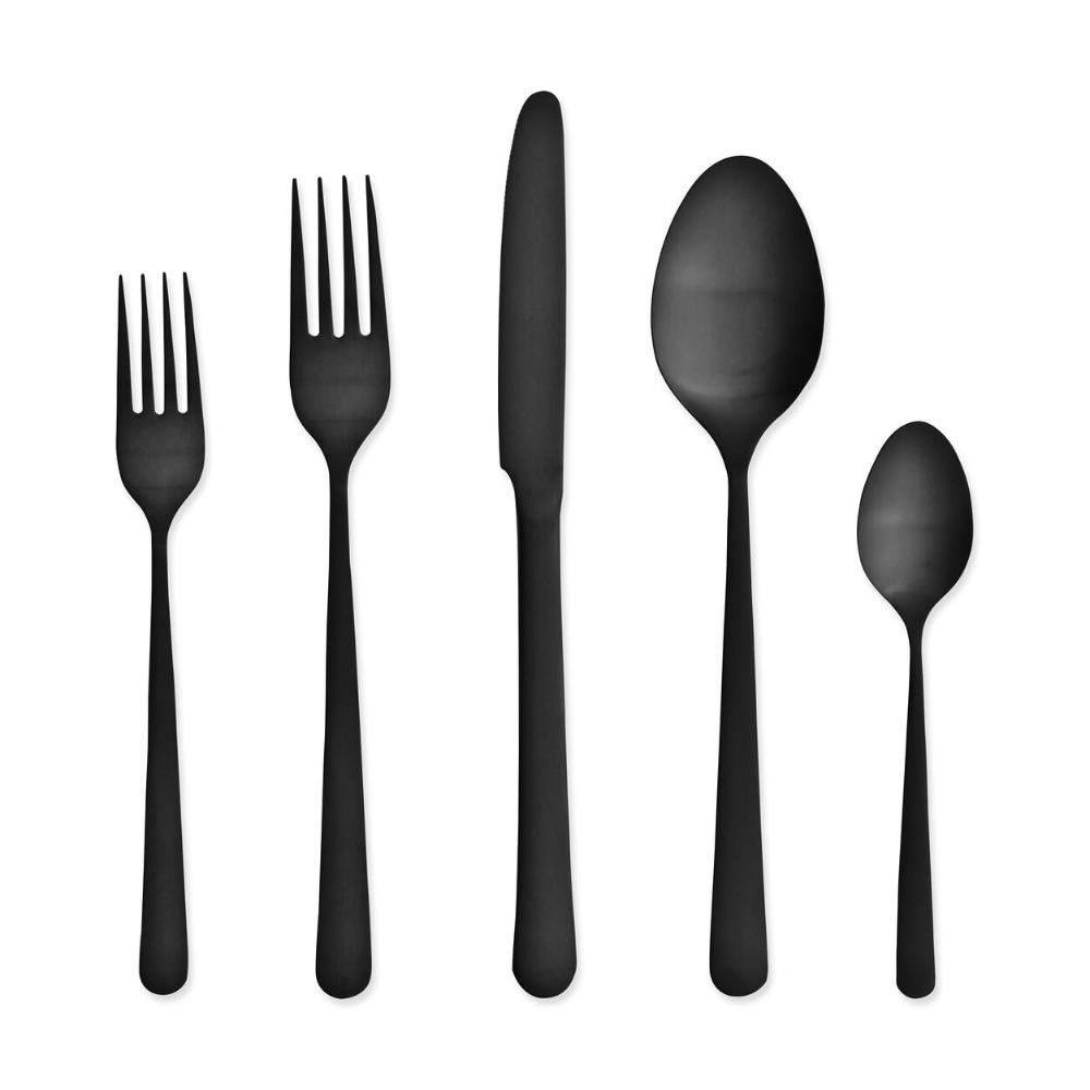 Matte Black Flatware Black Kitchens Matte Black Scandinavian