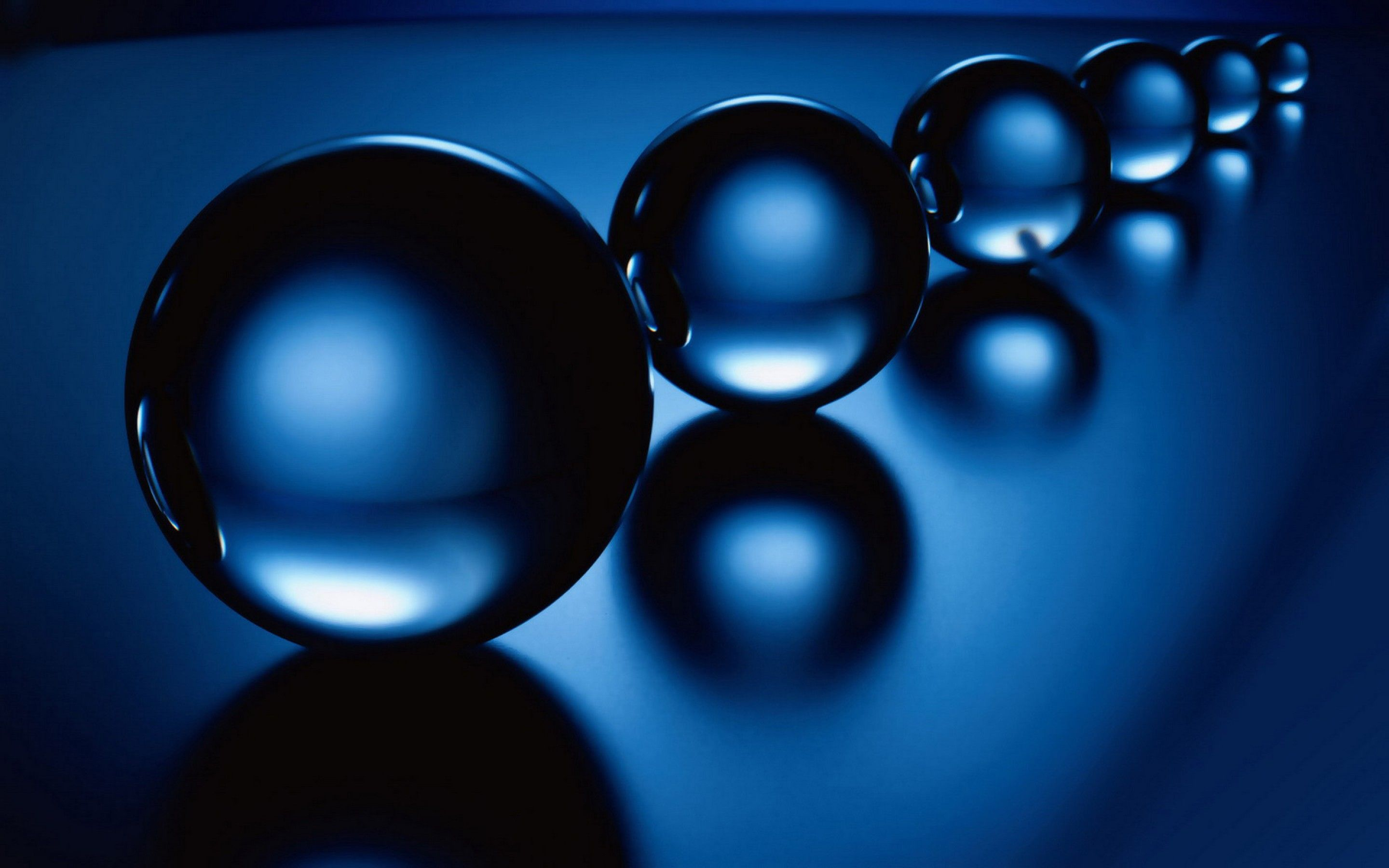 A Series Of Transparent Balls 3d Blue Wallpaper Blue Wallpapers Bright Wallpaper Sky Color