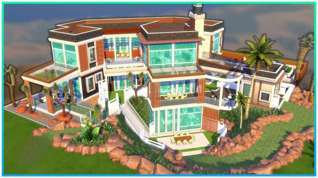 Kate Emerald On Instagram Lot Modern Luxury Mansion Gallery Id Kateemerald Thesims4 Sims4 Thesims Sims Mansions Sims 4 House Design Mansions Luxury