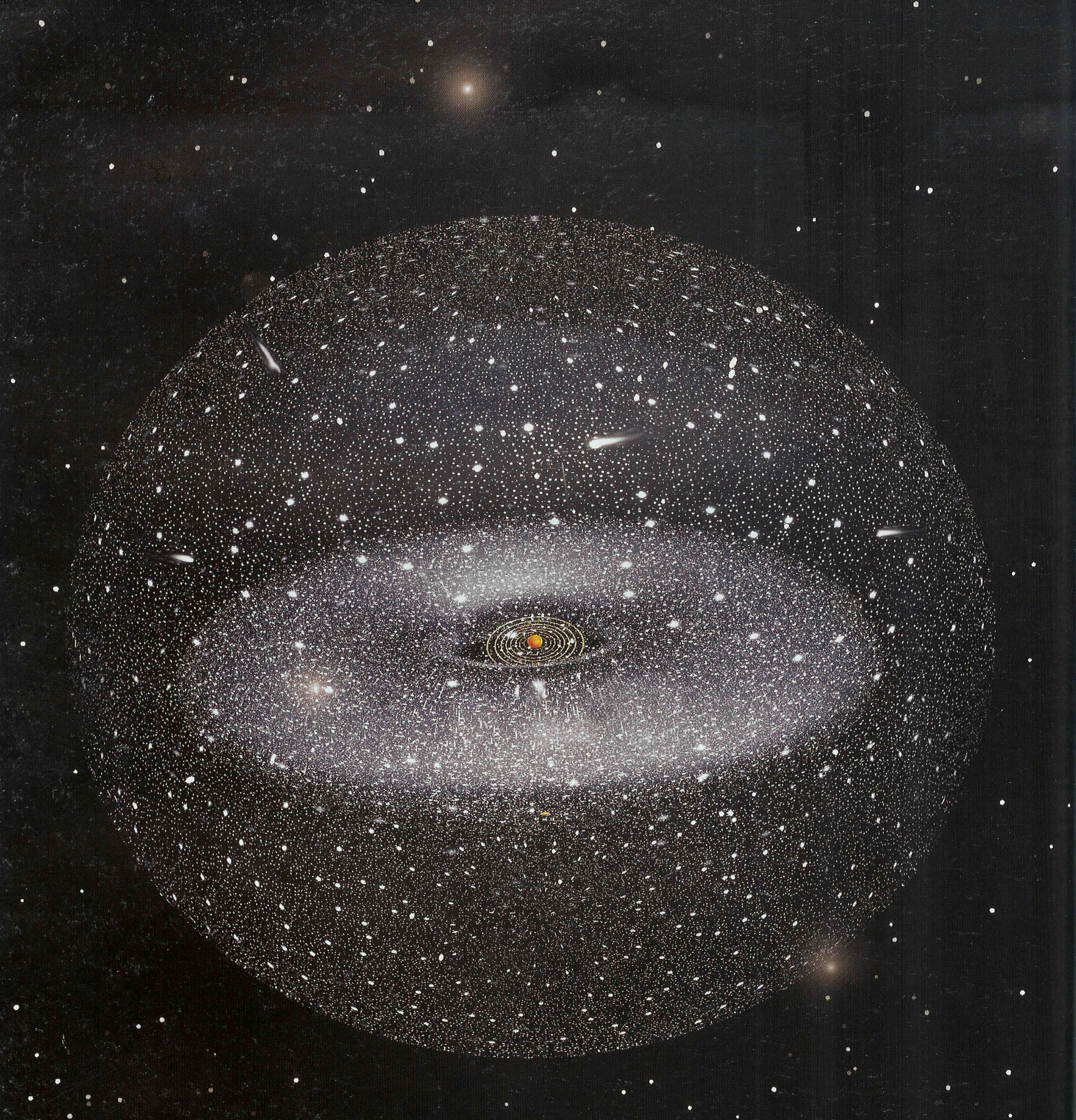 Oort Cloud: 2-part cloud; long-period comets come from ...