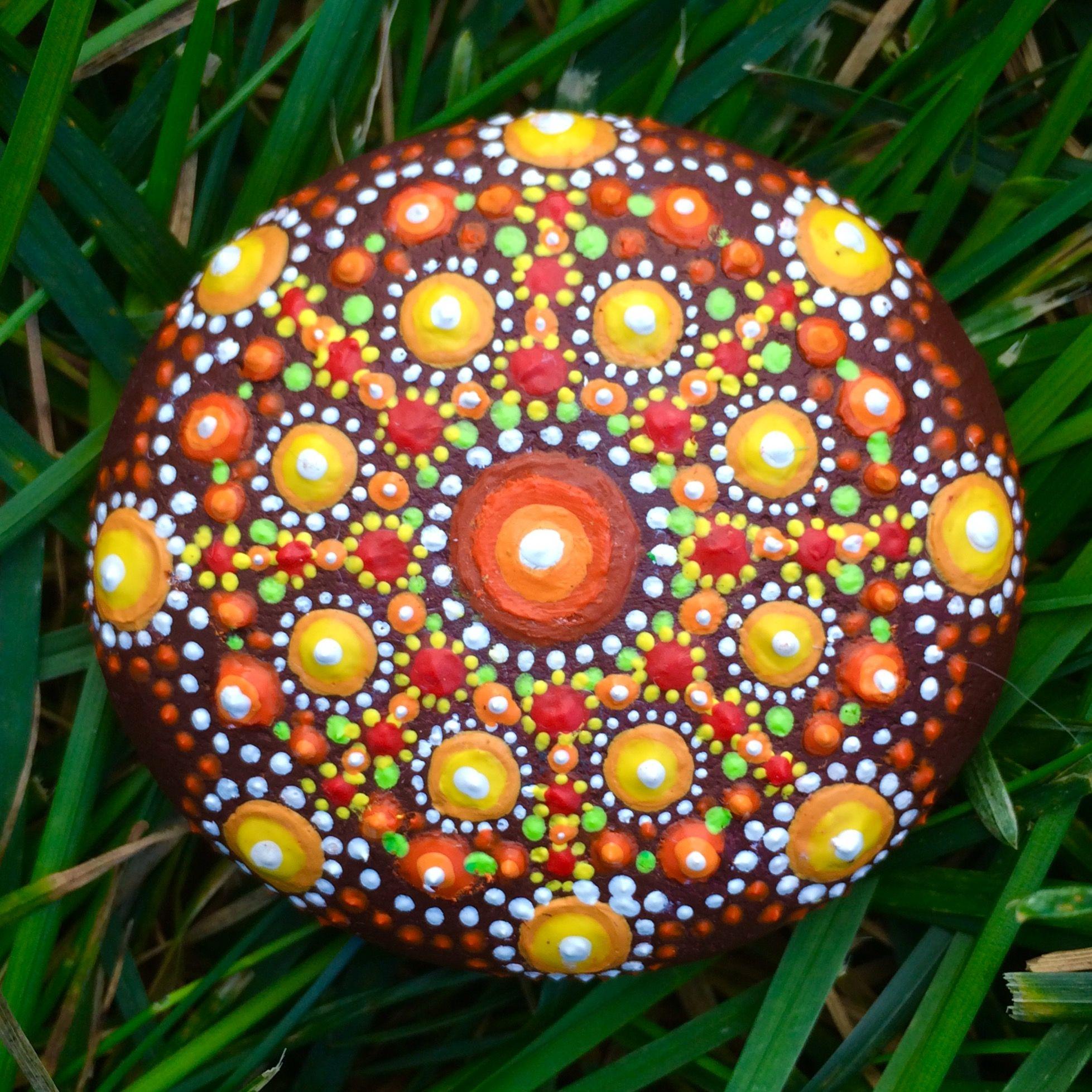 Mandala painted stone By Rebecca Blake