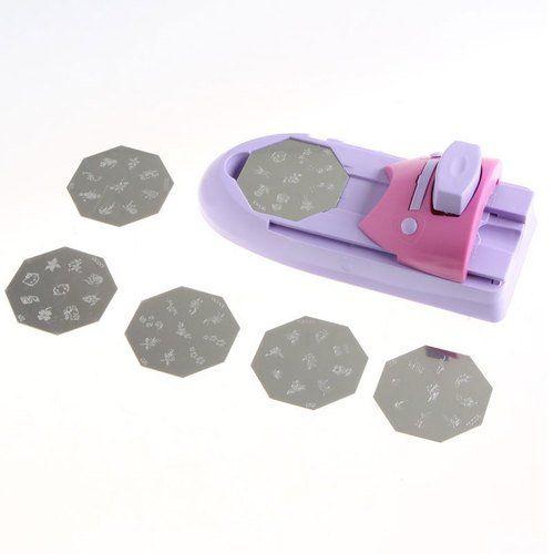Nail Art DIY Printer Printing Pattern Stamp Manicure Machine Stamper Set Kit
