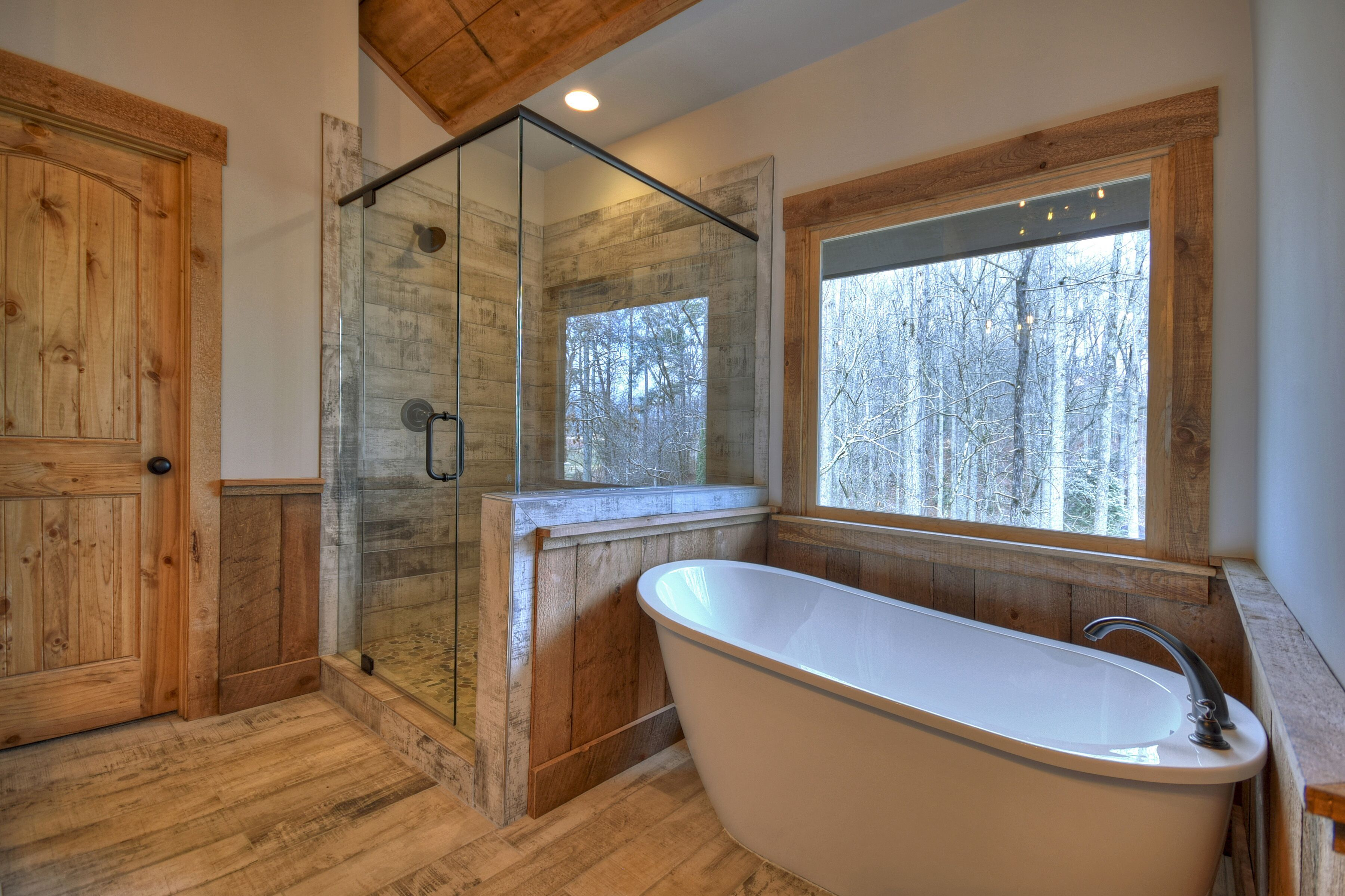 Cabin in Ellijay, GA. All hardwood and tile supplied and