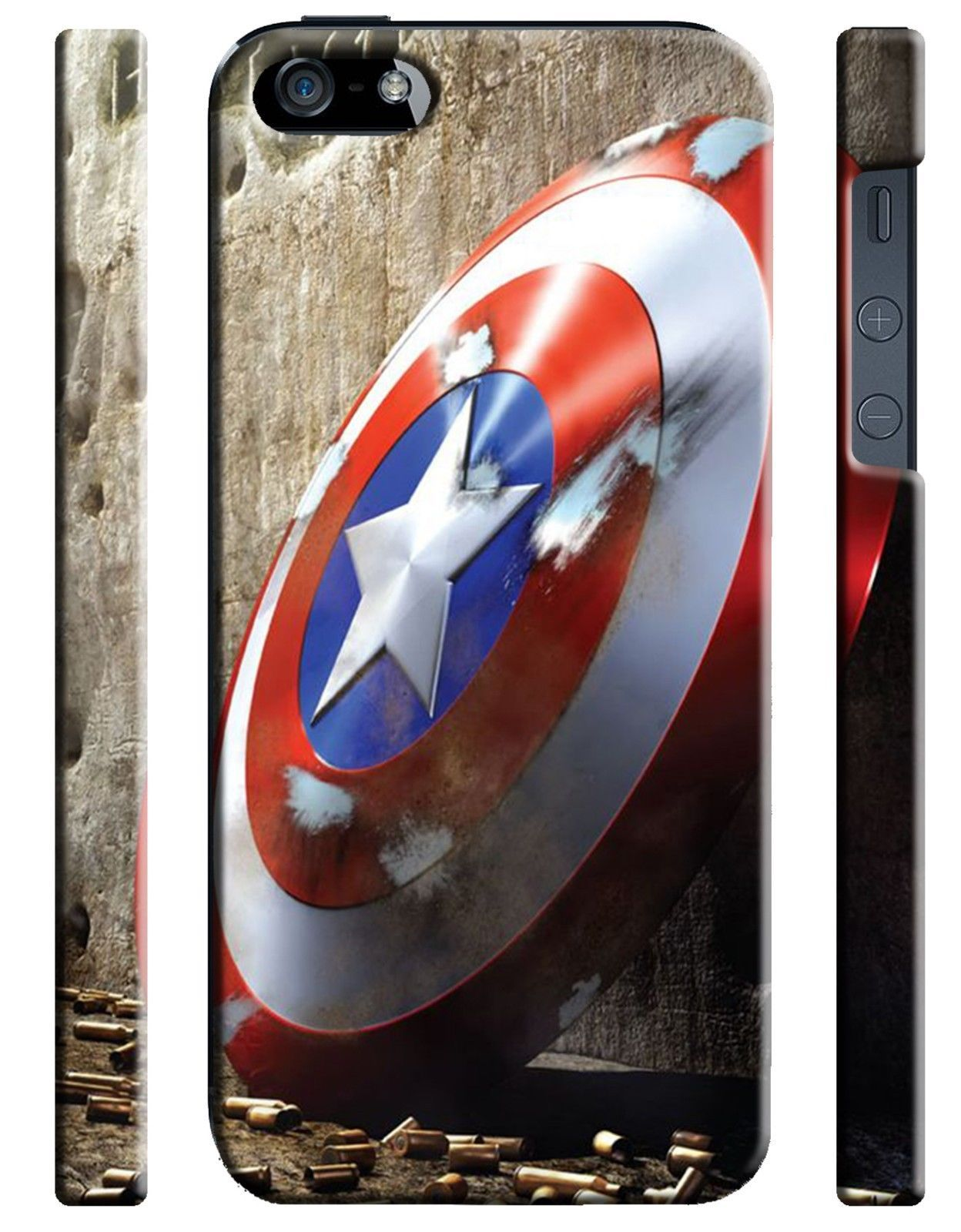 Details About Captain America Shield Iphone 4s 5s 5c 6s 7 8 X Xs