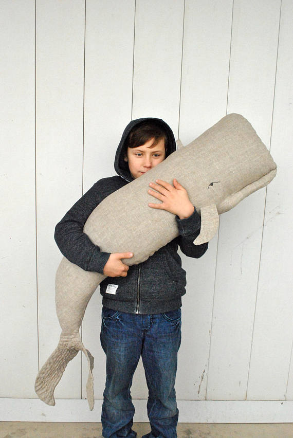 Whale pillow or linen hanging decor on the wall Big stuffed whale decor Animal Pillow Long nautical pillow Whale cushion #ceramicpottery