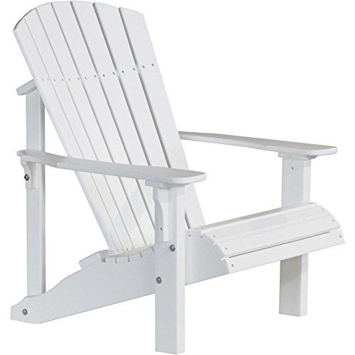 LuxCraft Recycled Plastic Deluxe Adirondack Chair  Https://patiodiningset.review/luxcraft