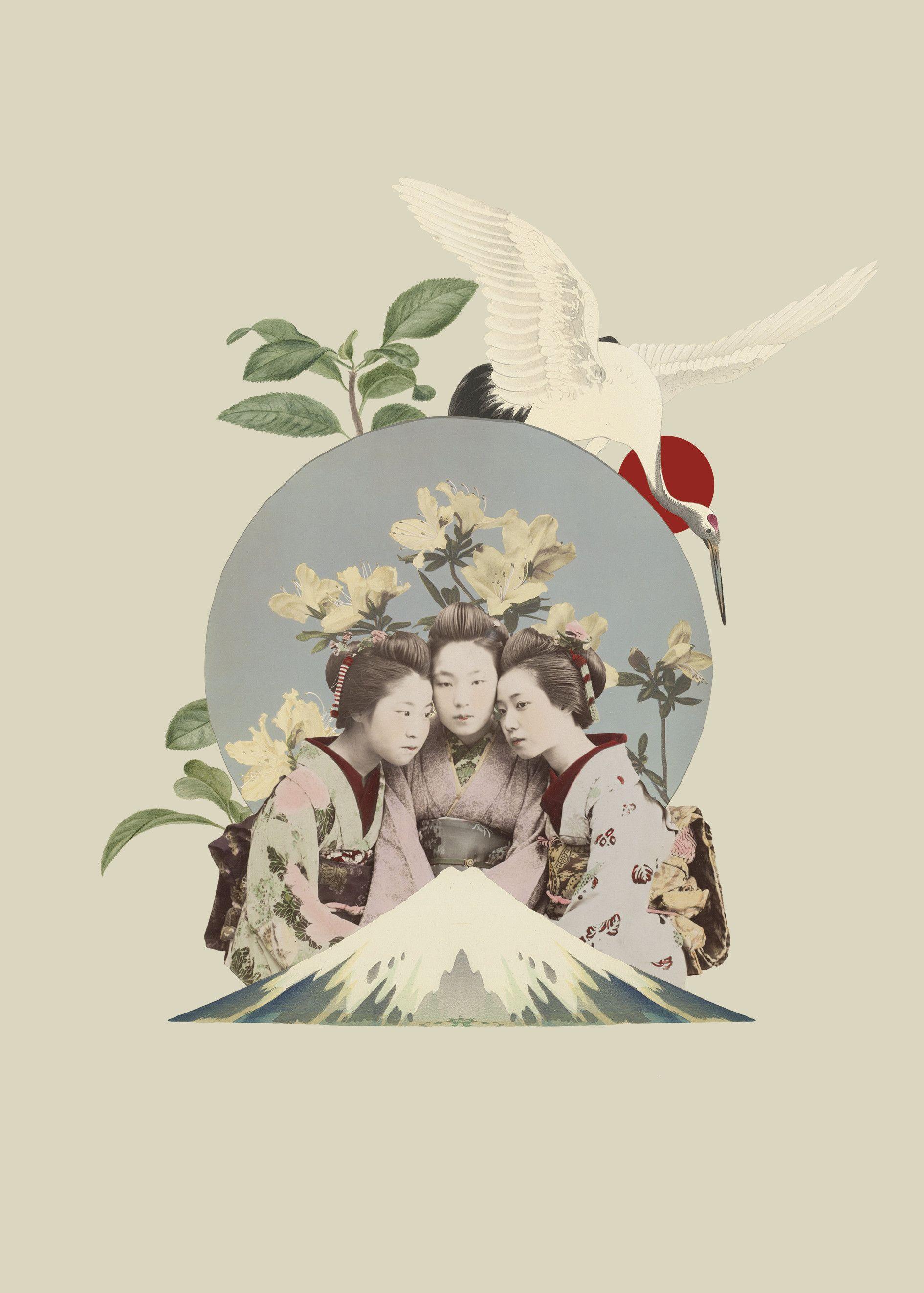 Collage Poster Japan Kolaz Plakat Dekoracyjny Japonia