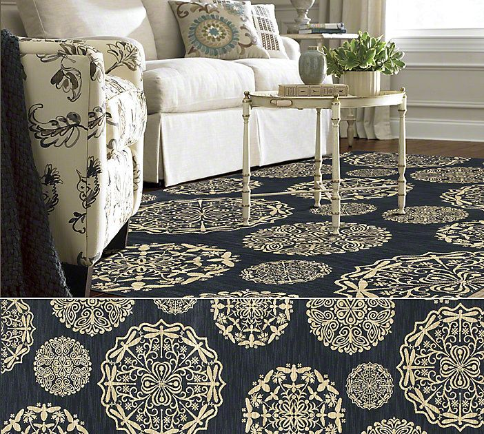 Shaw Floors Are Rug In The Bob Timberlake Collection Style Queen Anne S Lace Color Navy