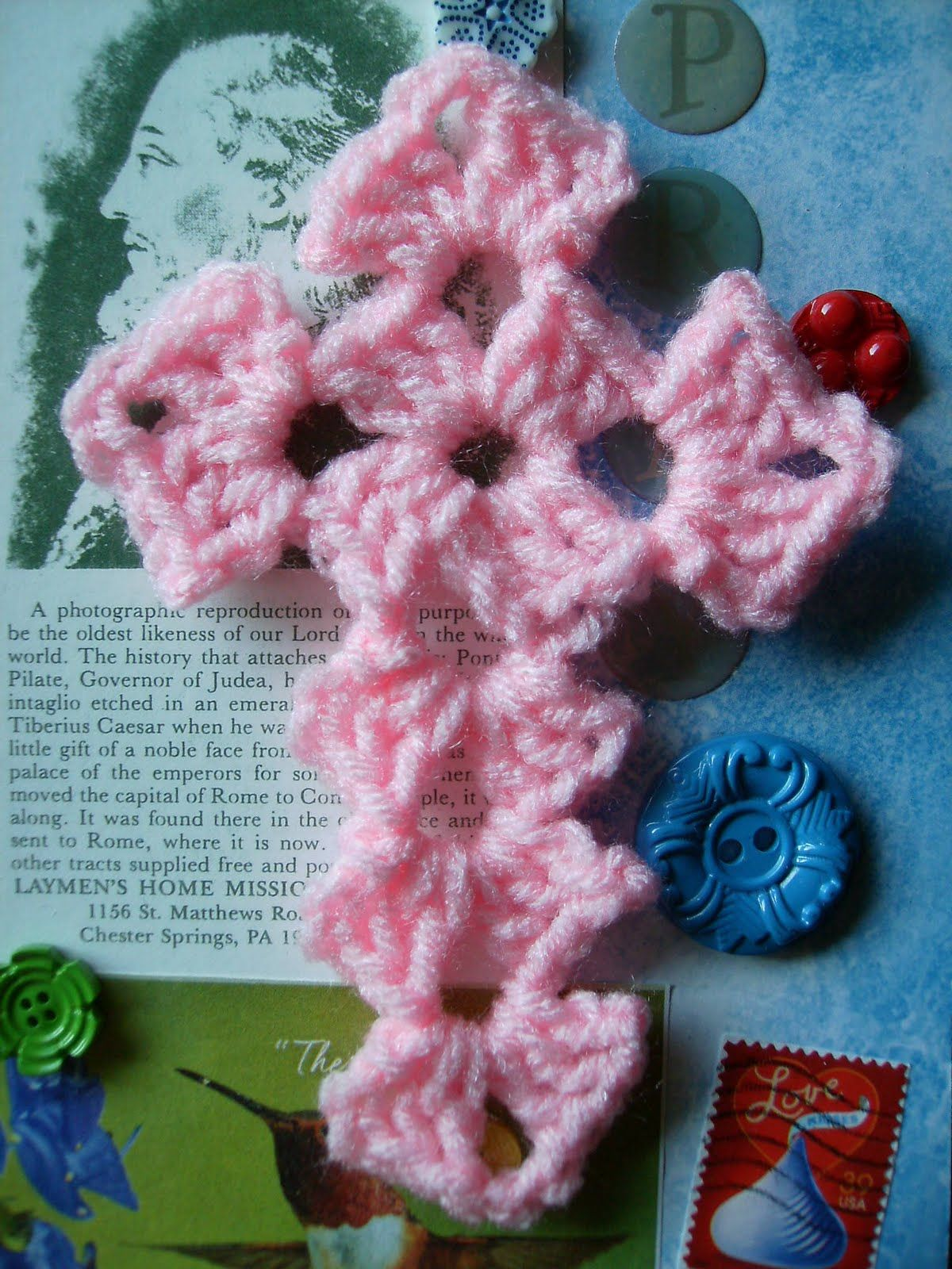 Cross crochet pattern i thought i had all the cross patterns id scrap yarn crochet free yarn cross crochet pattern make a bit longer and could be a bookmark my nanny margaret lehr werkheiser made me one of these bankloansurffo Gallery