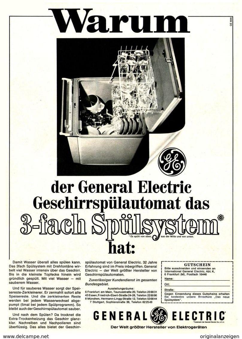 OriginalWerbung/ Anzeige 1966 GENERAL ELECTRIC