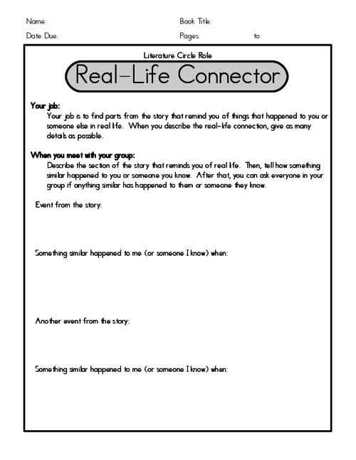 The real life connector is responsible for comparing a section of activities fandeluxe Choice Image
