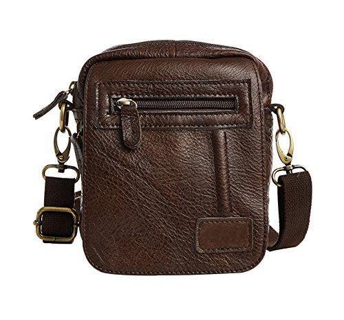 6b5c623ba7 Genda 2Archer Vintage Leather Fanny Messenger Shoulder Satchel Waist Bag  Pack Coffee     You can get more details by clicking on the image.