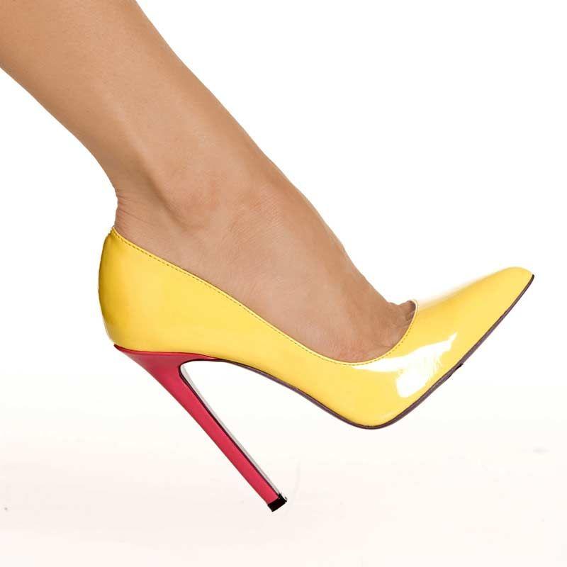 Hottie - Fuchsia/Yellow Pump | Heels