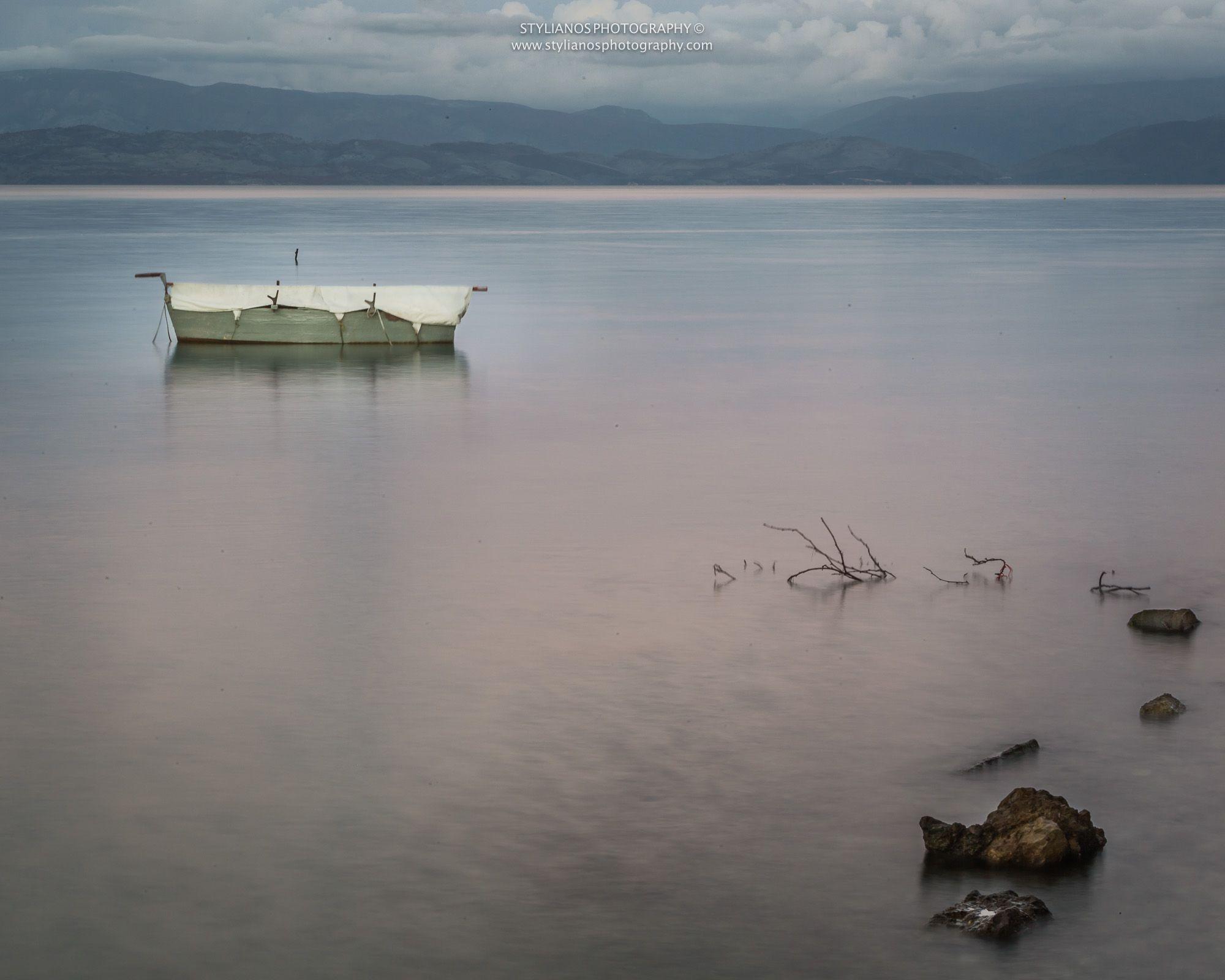 Boat Sunset corfu