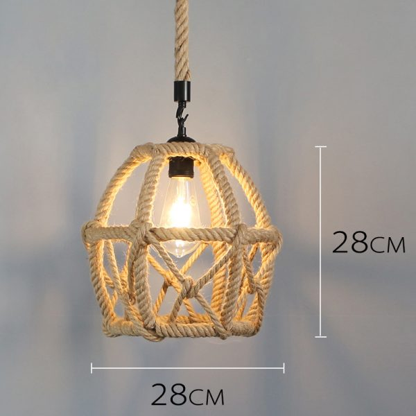 Hemp Rope Ceiling Pendant Light Shades Egg Shape Rope Pendant Light Pendant Light Shades Pendant Light