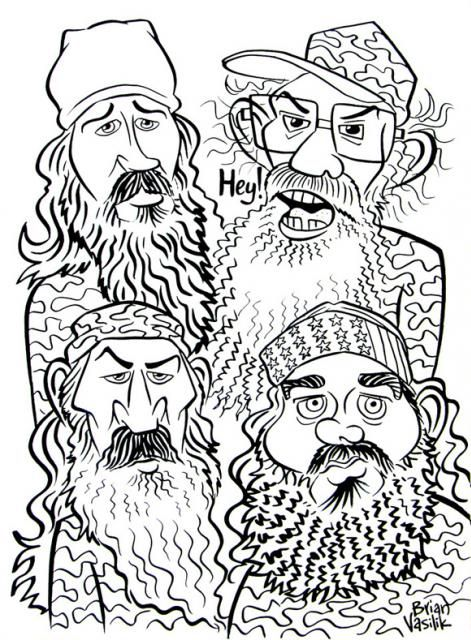 Duck Dynasty People Coloring Pages Drew The Cast Members Of Duck