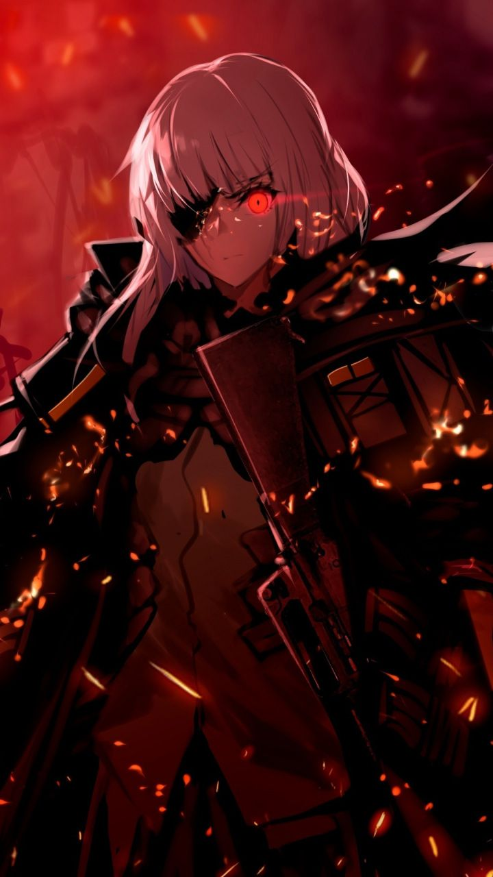 Dark M16a1, girls frontline, soldier, 720x1280 wallpaper