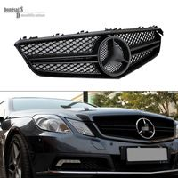 Mercedes E Class W207 2 Door Coupe Silvery Black 2 Fin Front Mesh Grille Grill For Benz 2010 2013 W207 Coupe E Mercedes E Class Mercedes Mercedes Benz Cars
