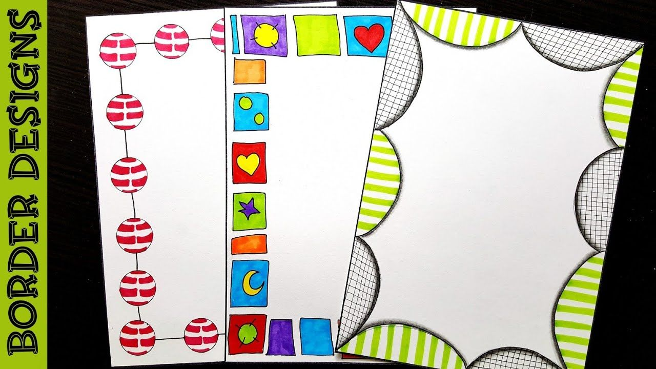 Freehand   Border designs on paper   border designs ...