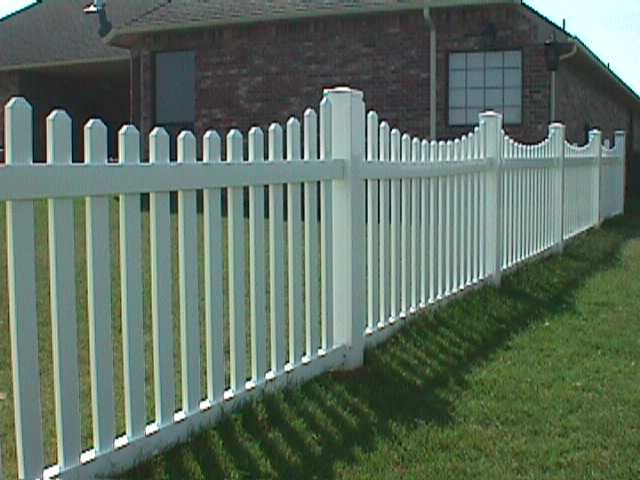 White Vinyl Fencing Ideas Foot Scallop Picket Fence Designs