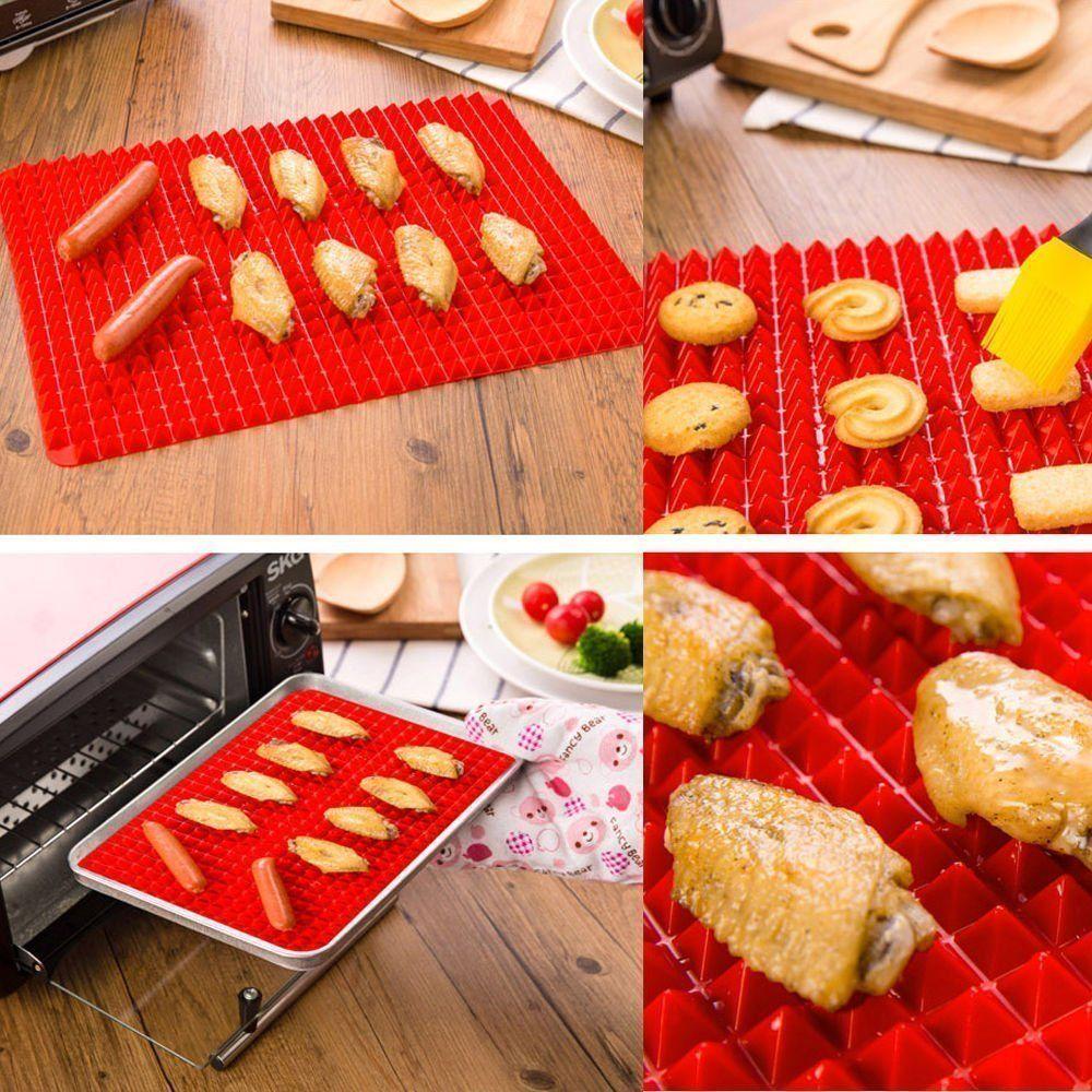 2pcs Silicone Baking Mat BBQ Cooking Reusable Nonstick Sheet Kitchen Accessories