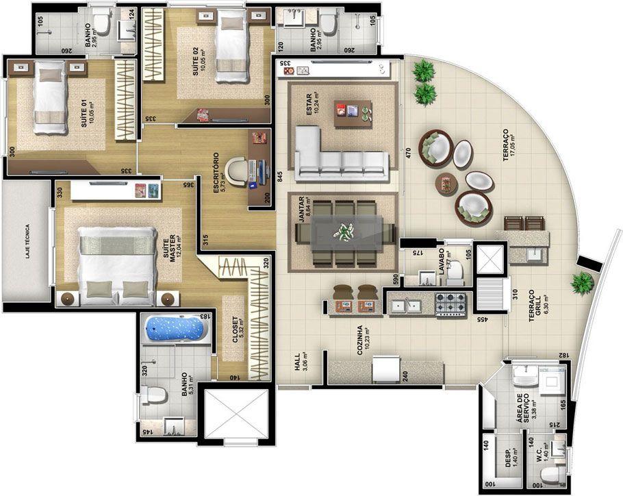 Pin De Stanley Em Apartments Penthouses Em 2019 Plantas De Casas