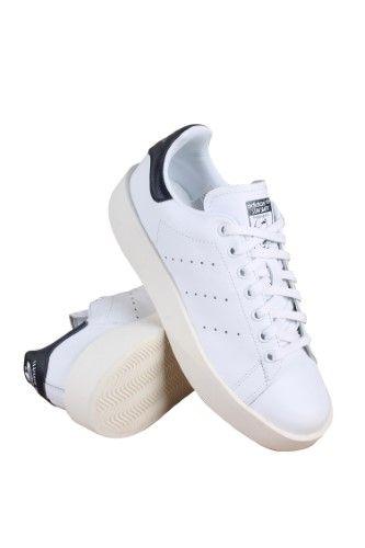 adidas donne 'stan smith / bianco / nero grassetto originali marina (nero