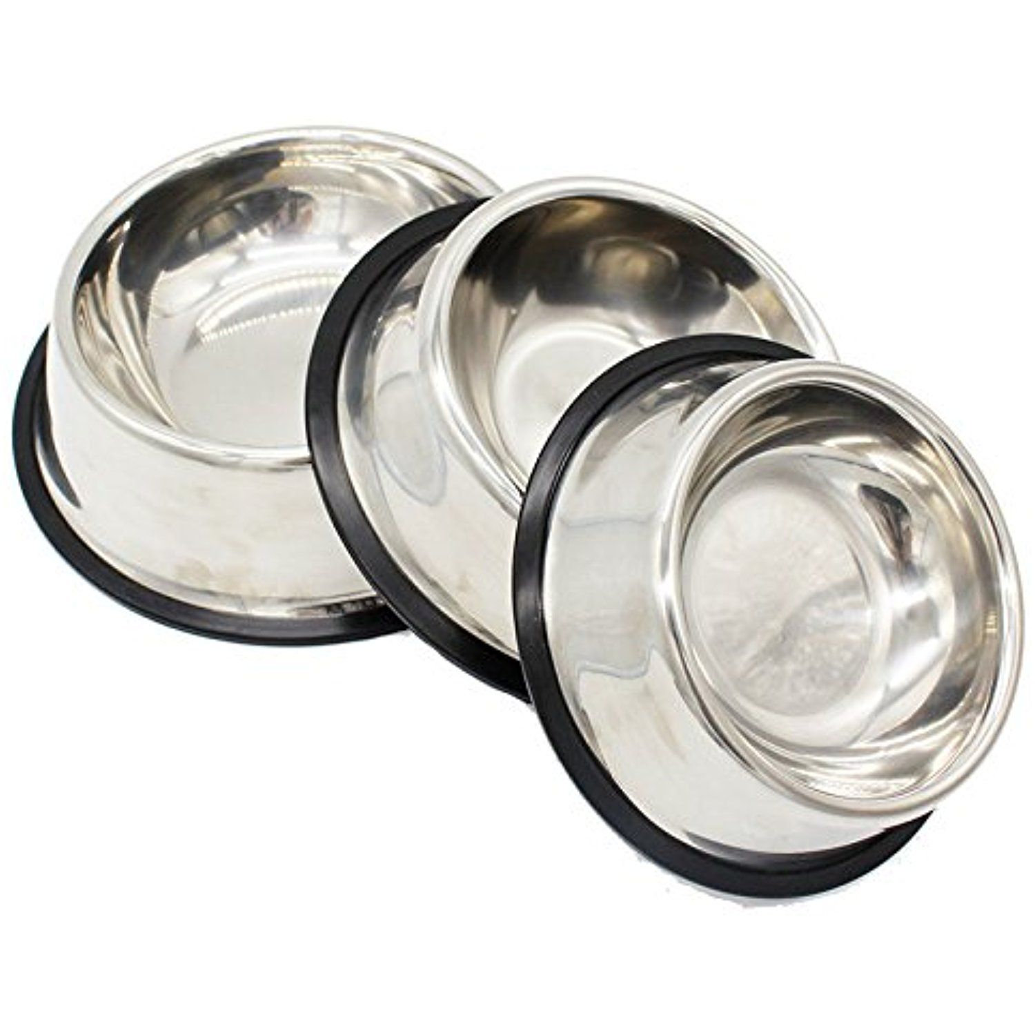 becky dog bowl set of2 for dog premium stainless steel pet bowl for