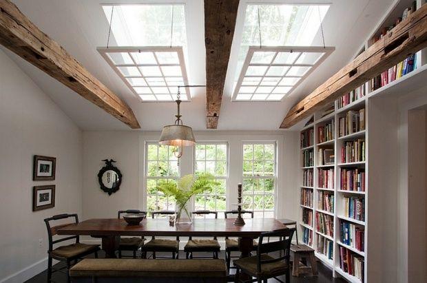 La fenêtre de toit comme déco pour la salle à manger - idee de deco salle a manger