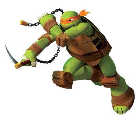 Michelangelo or mikey is the wild one of the teenage - Nunchaku tortue ninja ...