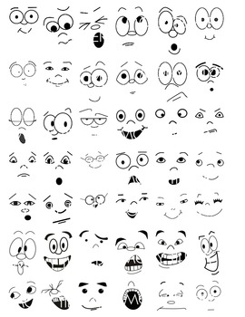 FACE CLIP ART Face Clipart makes a great addition