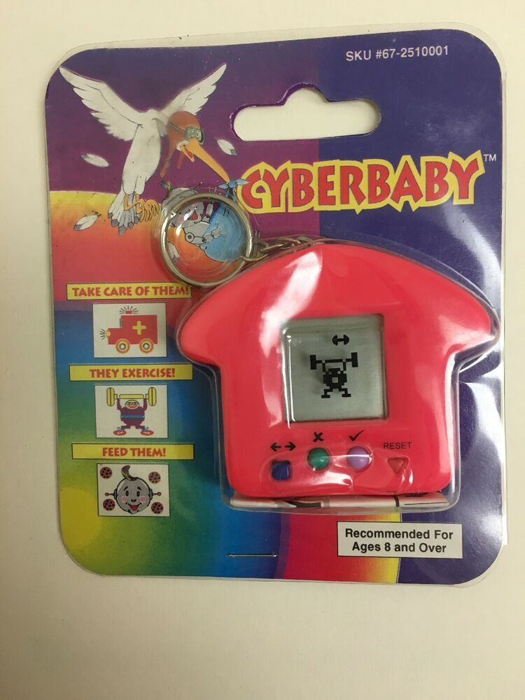CyberBaby Keychain Electronic Handheld Virtual Pet Game