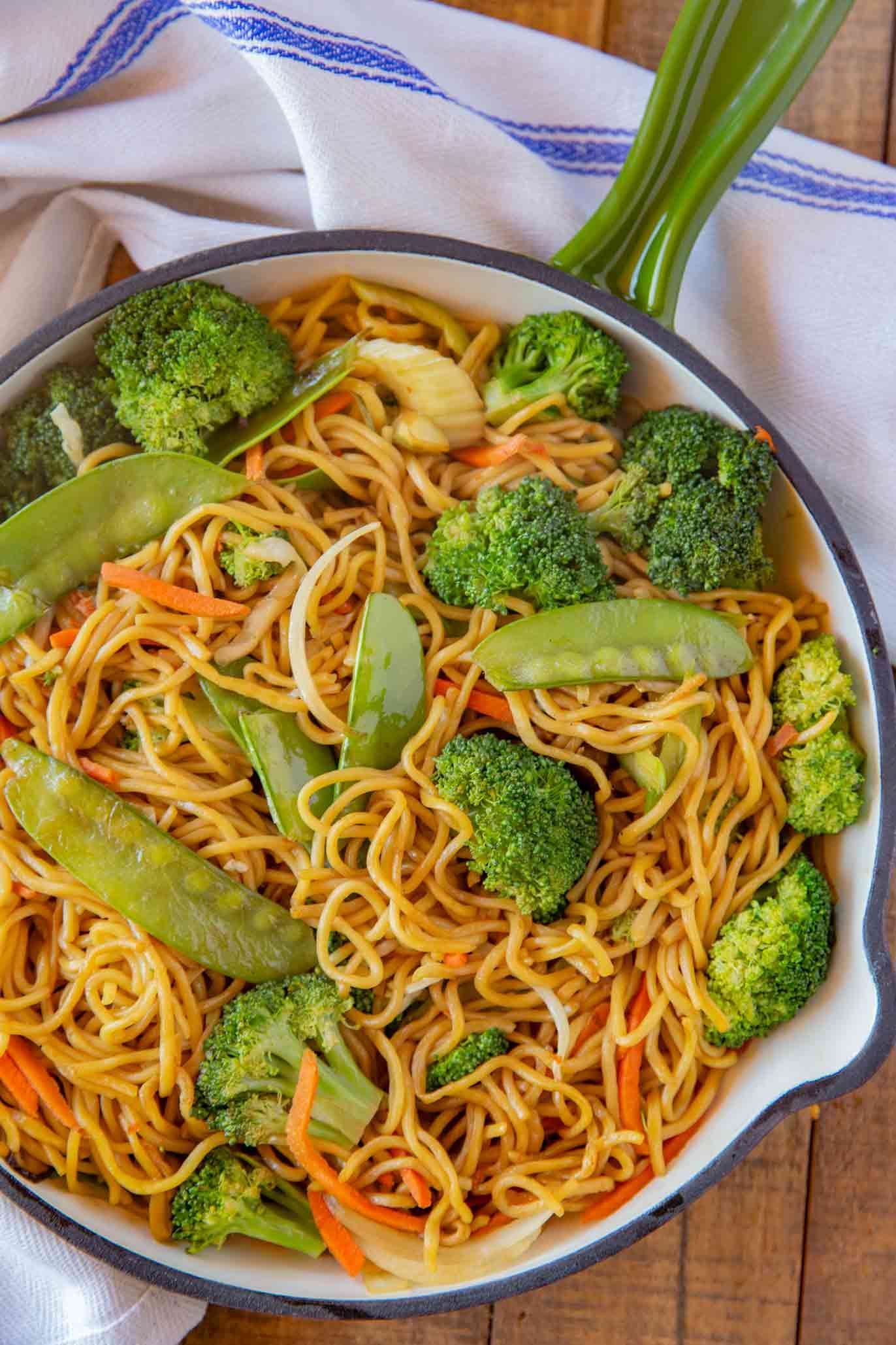 Vegetable Chow Mein Made With Celery Broccoli Cabbage Carrots