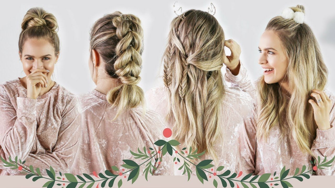 Christmas morning hairstyles quick and easy kayleymelissa