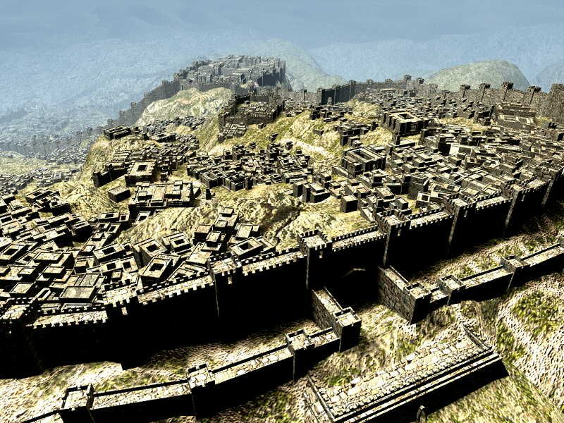 Another view of Hattusa, the Hittite capital, highlighting the sophisticated defenses built into an already impressive natural environment.