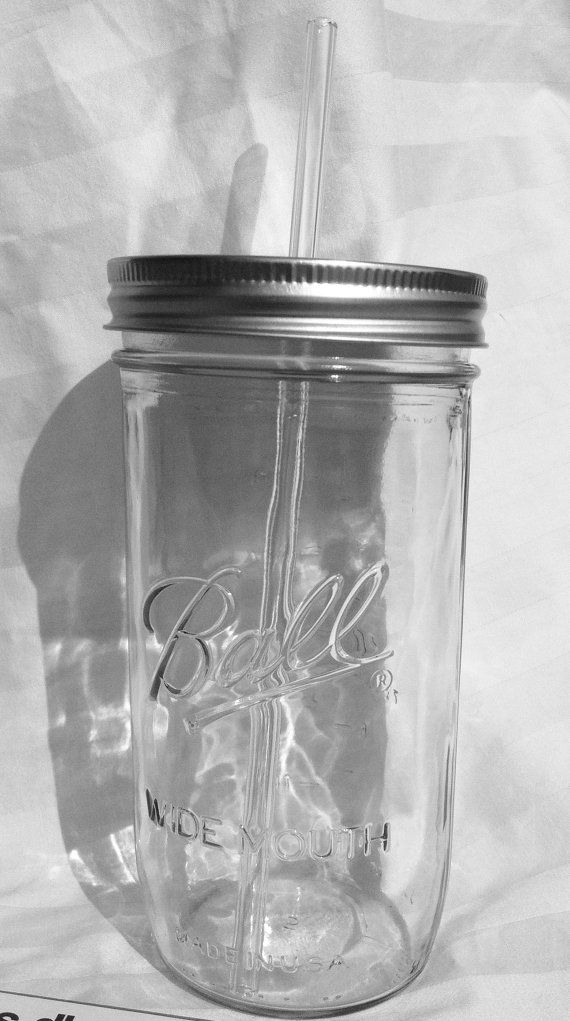 10 Large Mason Jar Drink Earth Day Go Green Reusable Glass Straw