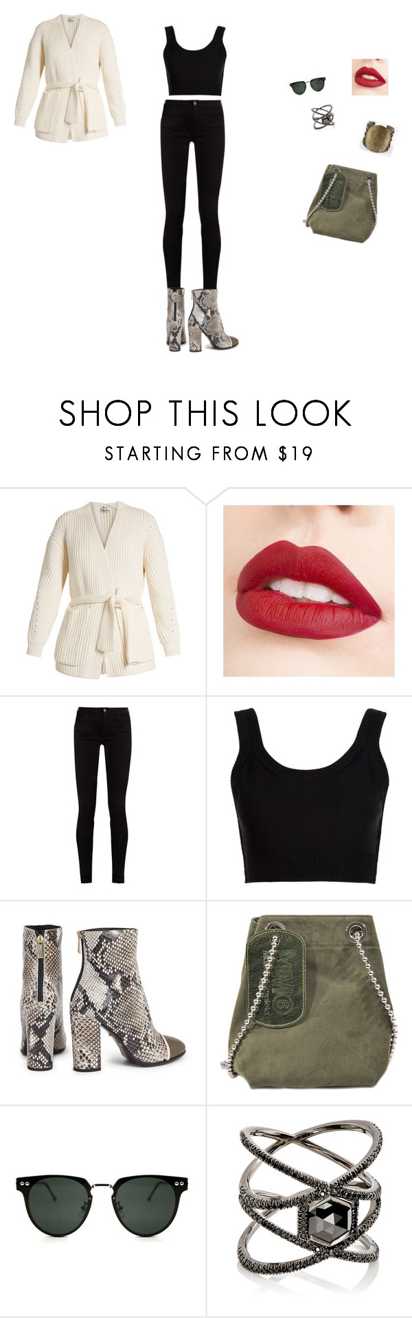 """""""Sans titre #2970"""" by yesmine-bengharbia ❤ liked on Polyvore featuring Acne Studios, Jouer, Gucci, Calvin Klein Collection, Just Cavalli, Maison Margiela, Spitfire and Eva Fehren"""