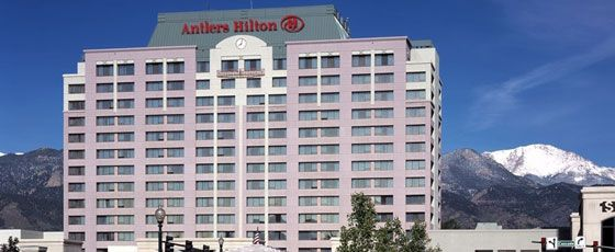 Antlers Hilton in the heart of downtown Colorado Springs Colorado