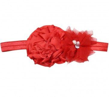 Pretty Red Baby Hair Band - Cute Flower Headband for Newborn Girls 317645dd920