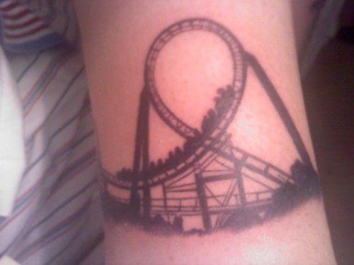 4b6a60f612240 Loop Roller Coaster Tattoo | Tattoes | Tattoos, Silhouette tattoos ...