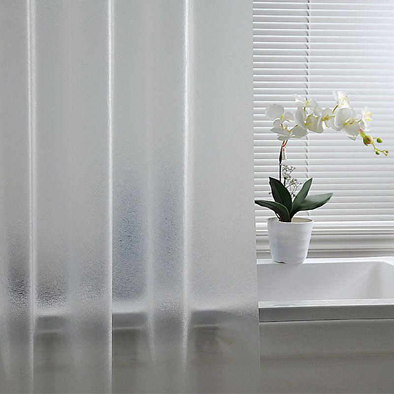 Plastic Scrub Shower Curtains Hook Ring Curtain Set Translucent
