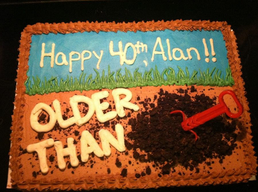 Over The Hill Cake cakes Pinterest Cake Birthdays and