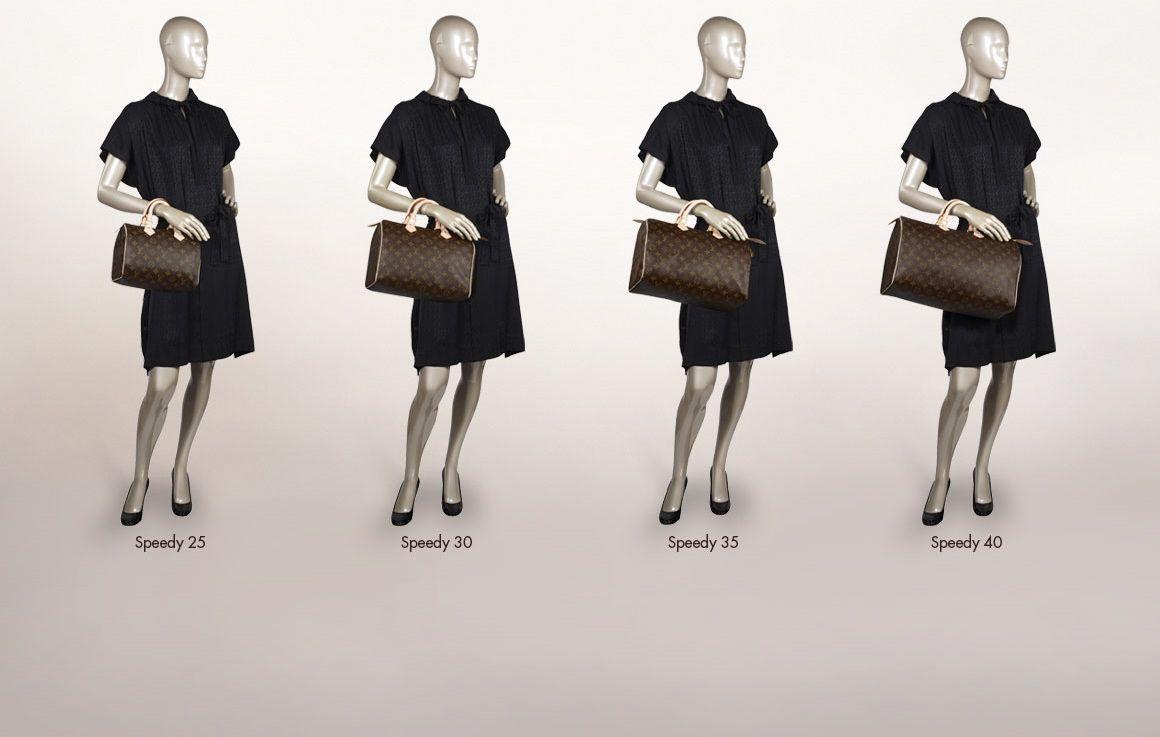 0346c4911d62 Louis Vuitton Speedy Size Comparison Chart. How Helpful!!
