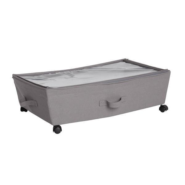 Under The Bed Storage Bin On Wheels Bed Storage Storage Bins Under Bed Storage