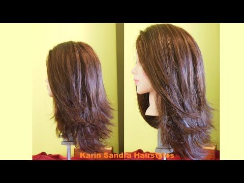 Long Bob Haircut Tutorial Step By Step Long Layered Haircut Long Haircut With Graduation Long Layered Haircuts Layered Haircuts Long Layered Hair