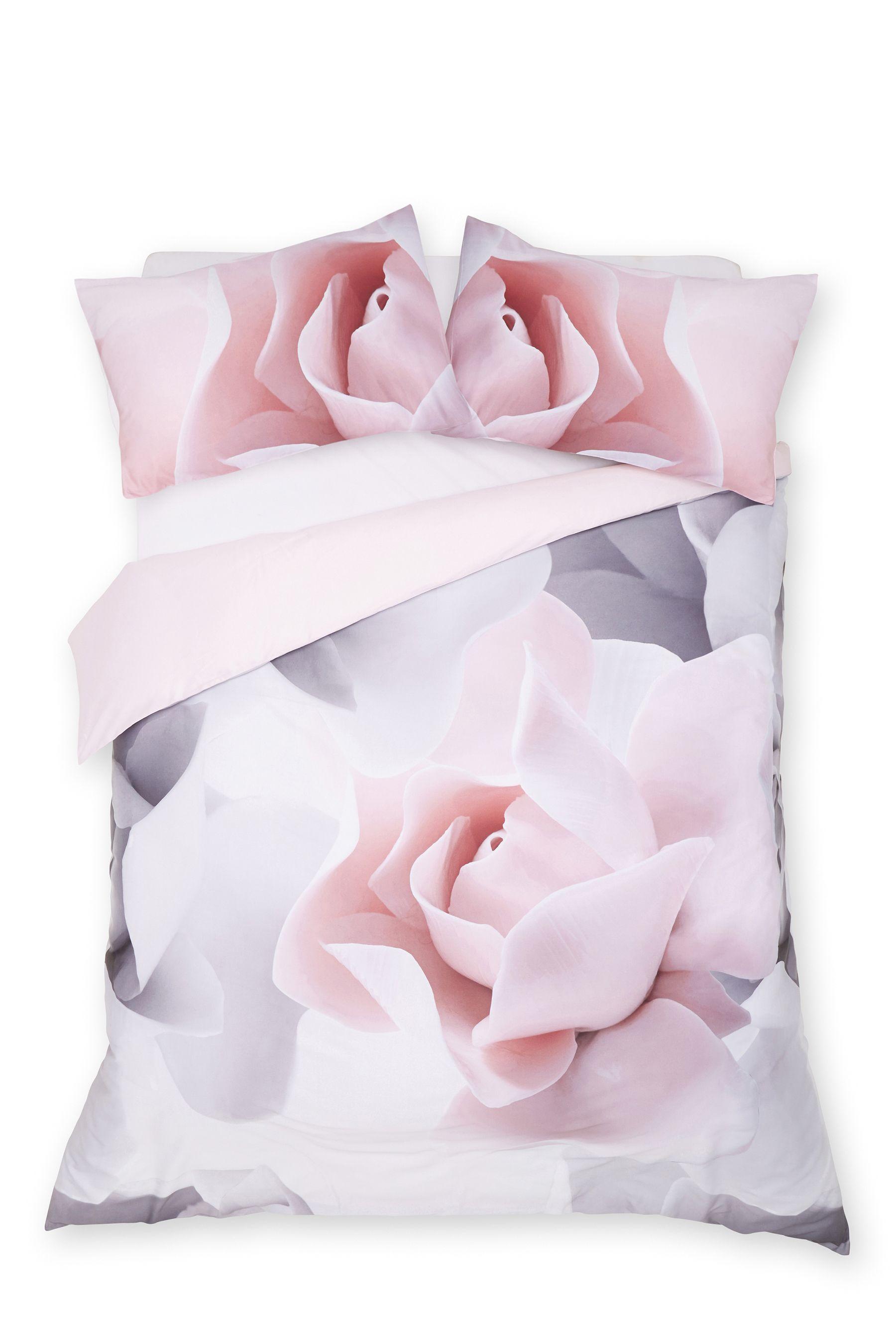 Ted Baker Porcelain Rose Cotton Duvet Cover Rose Duvet Rose