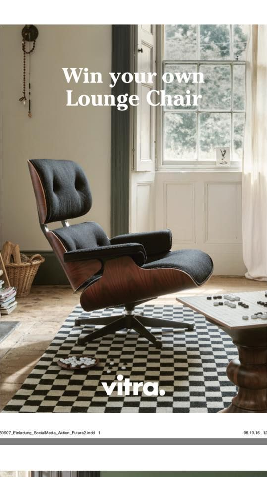 authentic eames lounge chair. Win Your Own Authentic #Eames Lounge Chair @vitra Eames