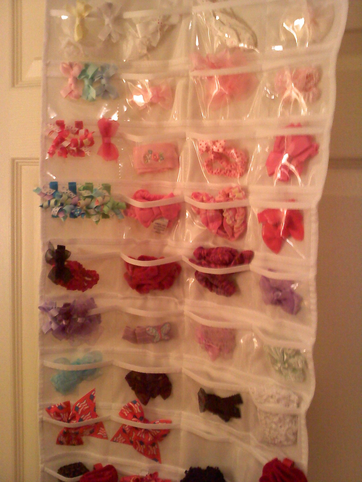 Double sided jewelry organizer works great as a hair clipbow