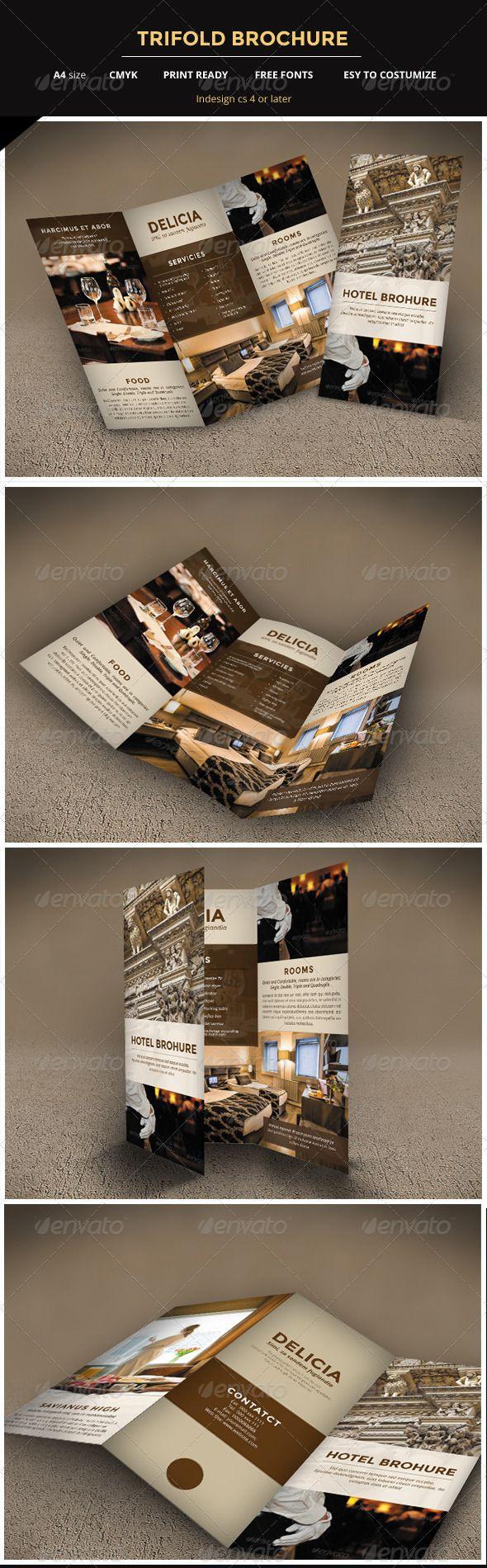 hotel brochure template free