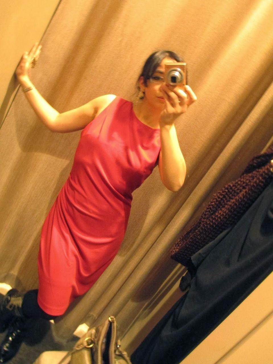 "♥ this look on whatiwear.com by DAHI KOCH ""NEW RED DRESS."" http://www.whatiwear.com/look/detail/151426"